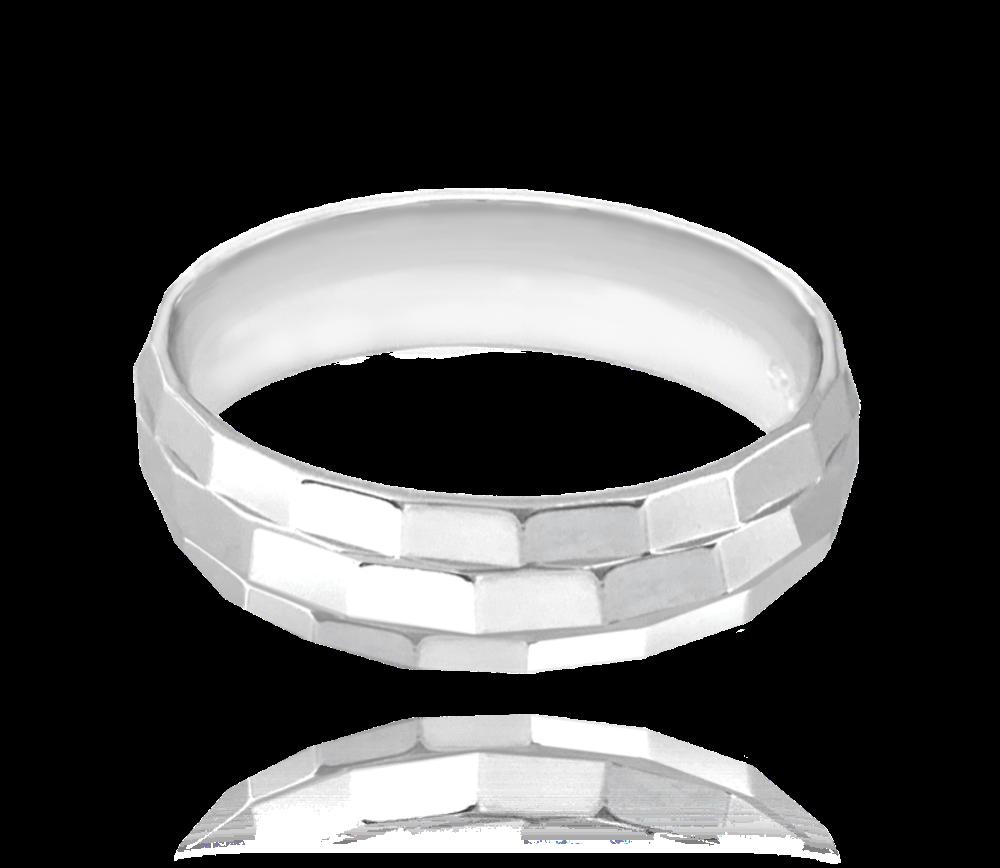 MINET Broušený snubní stříbrný prsten MINET vel. 60 JMAN0236SR60