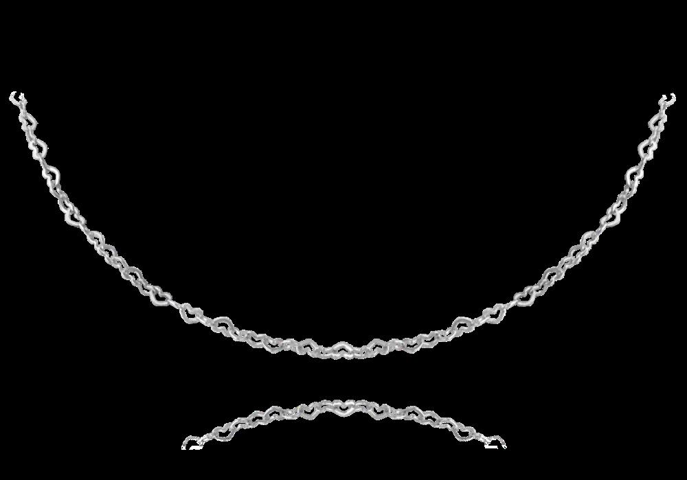 MINET Stříbrný náhrdelník MINET LOVE se srdíčky JMAS0110SN45