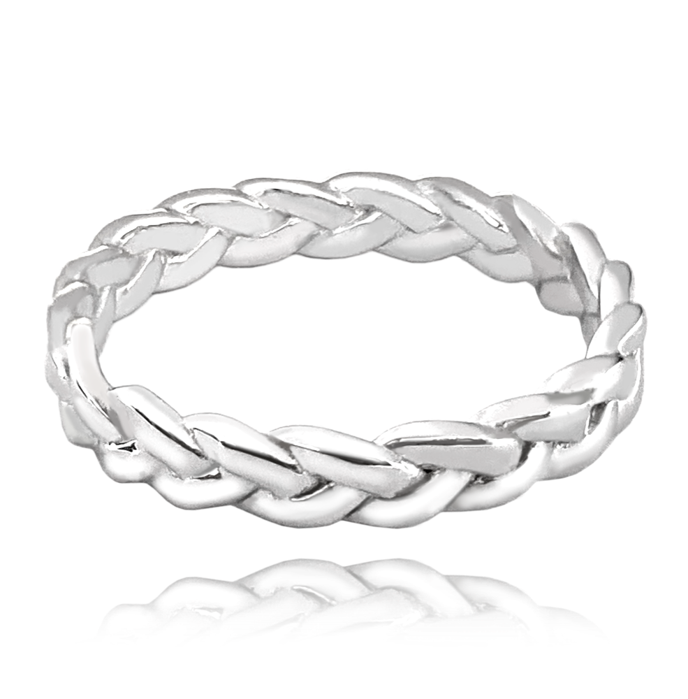 Propletený stříbrný prsten MINET vel. 64