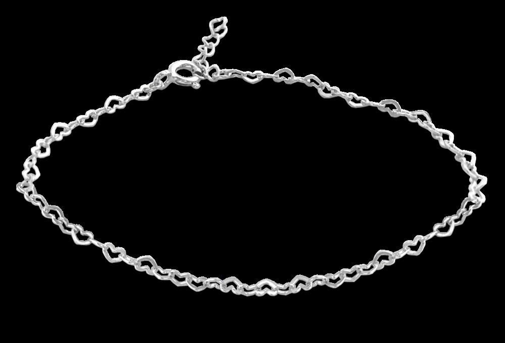 MINET Stříbrný náramek MINET LOVE se srdíčky JMAS0110SB16