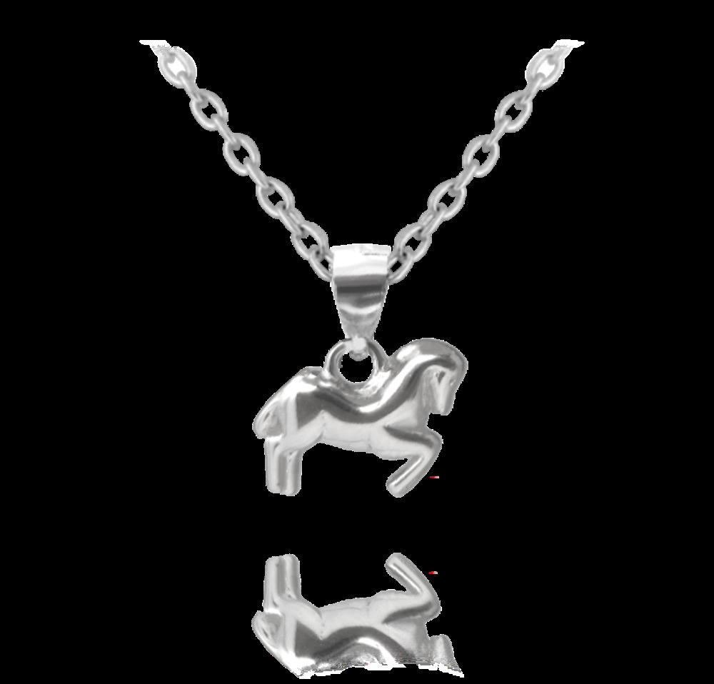 Elegantní stříbrný náhrdelník MINET s bílými zirkony