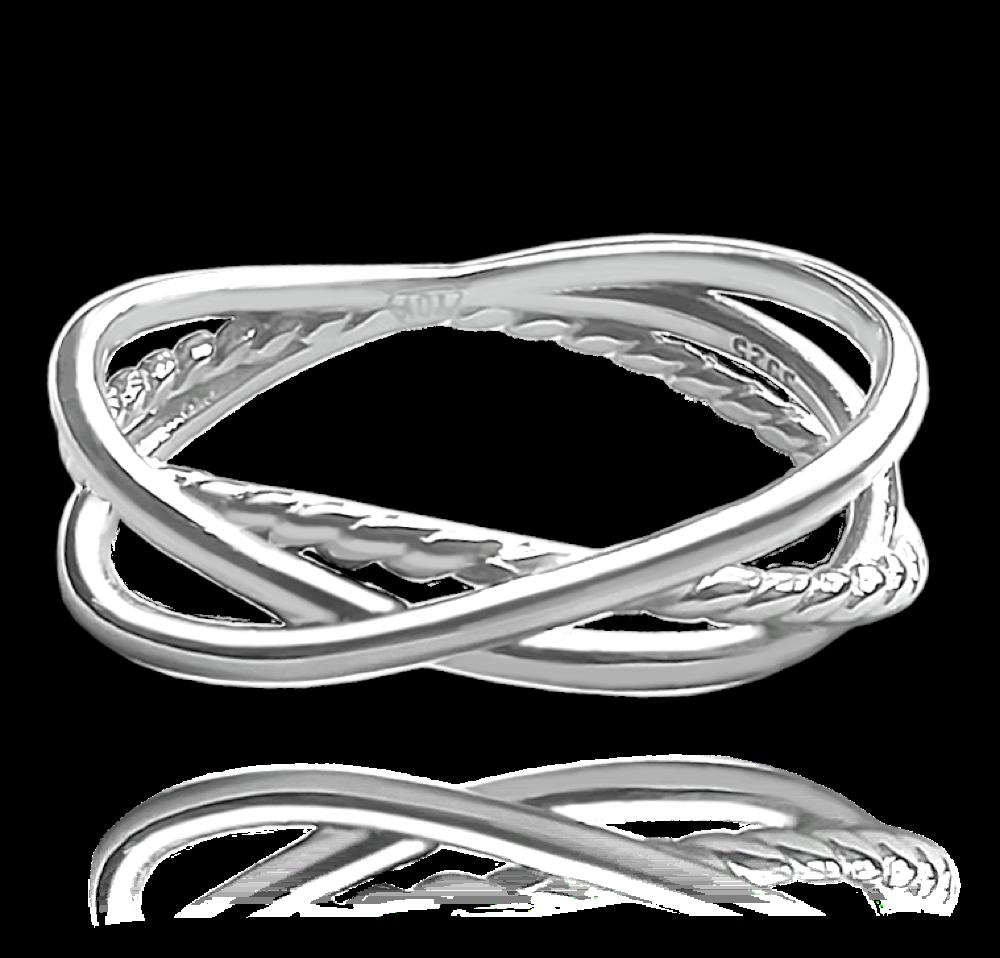 MINET Překřížený stříbrný prsten MINET vel. 50 JMAN0228SR50