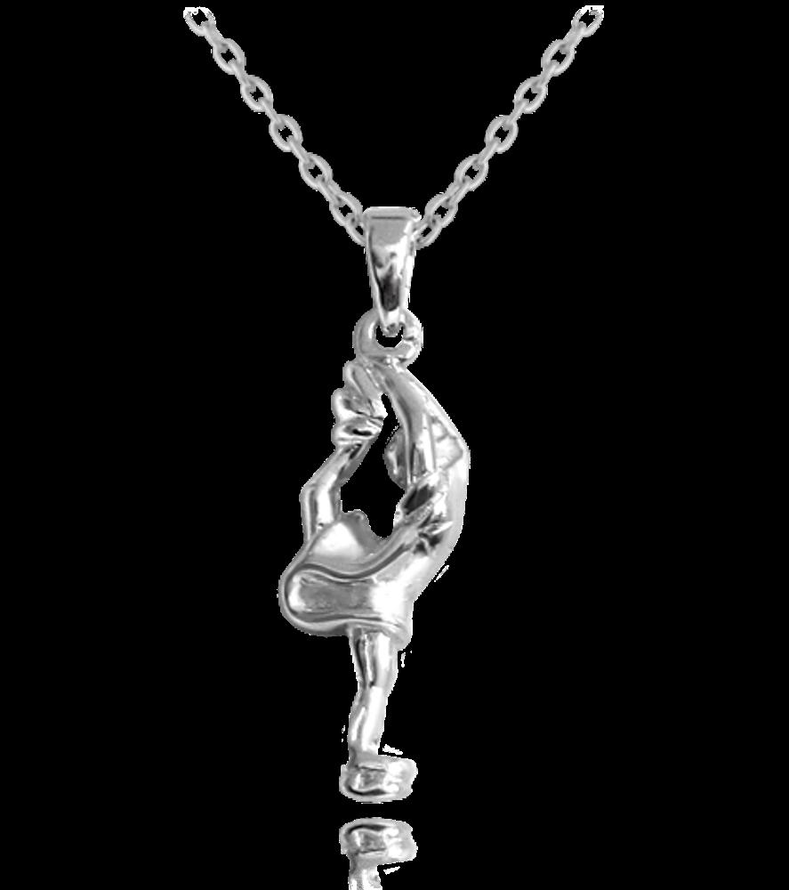 MINET Stříbrný náhrdelník MINET KRASOBRUSLAŘKA JMAN0079SN45