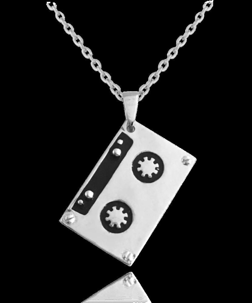 MINET Retro stříbrný náhrdelník MINET KAZETA JMAN0096SN45