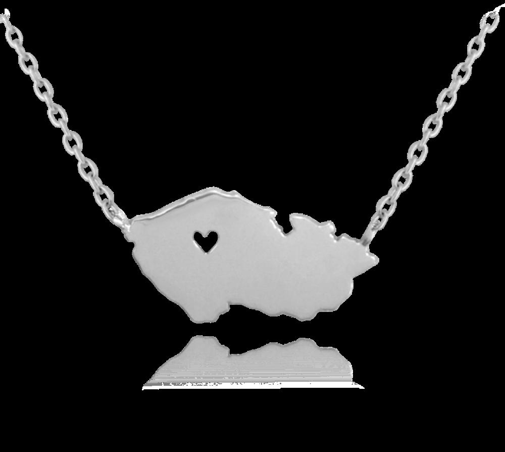 MINET Stříbrný náhrdelník MINET ČESKÁ REPUBLIKA JMAN0097CN45