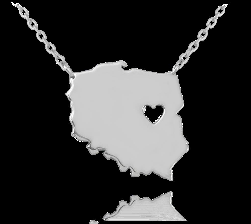 MINET Stříbrný náhrdelník MINET POLSKO JMAN0097PN45