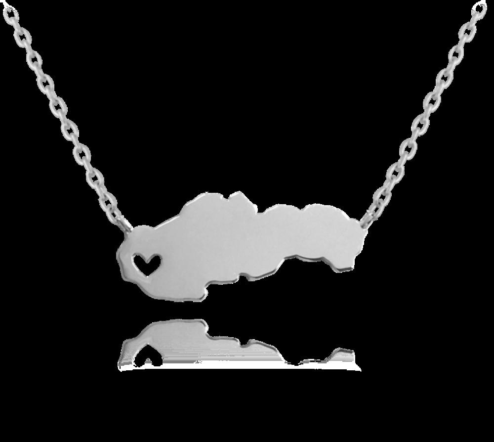MINET Stříbrný náhrdelník MINET SLOVENSKO JMAN0097SN45