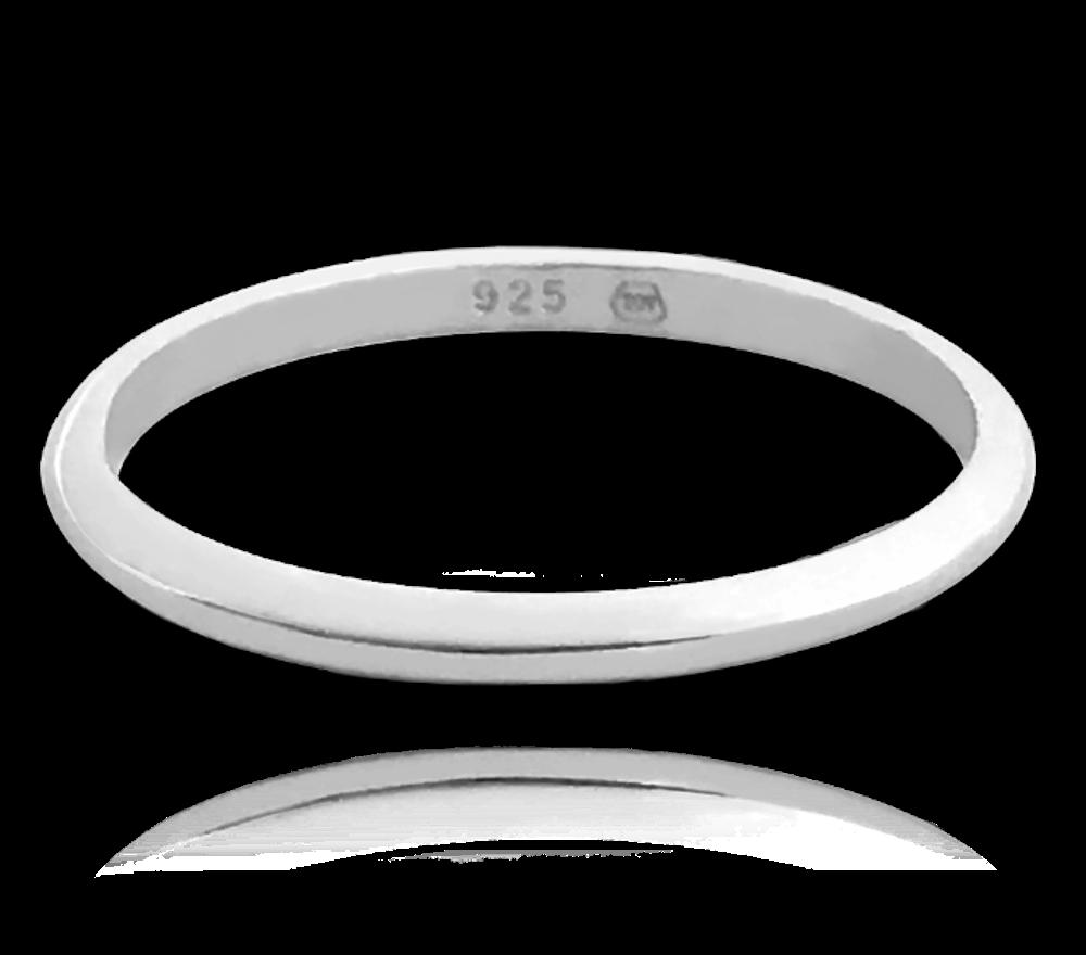 Stříbrný snubní prsten MINET vel. 69