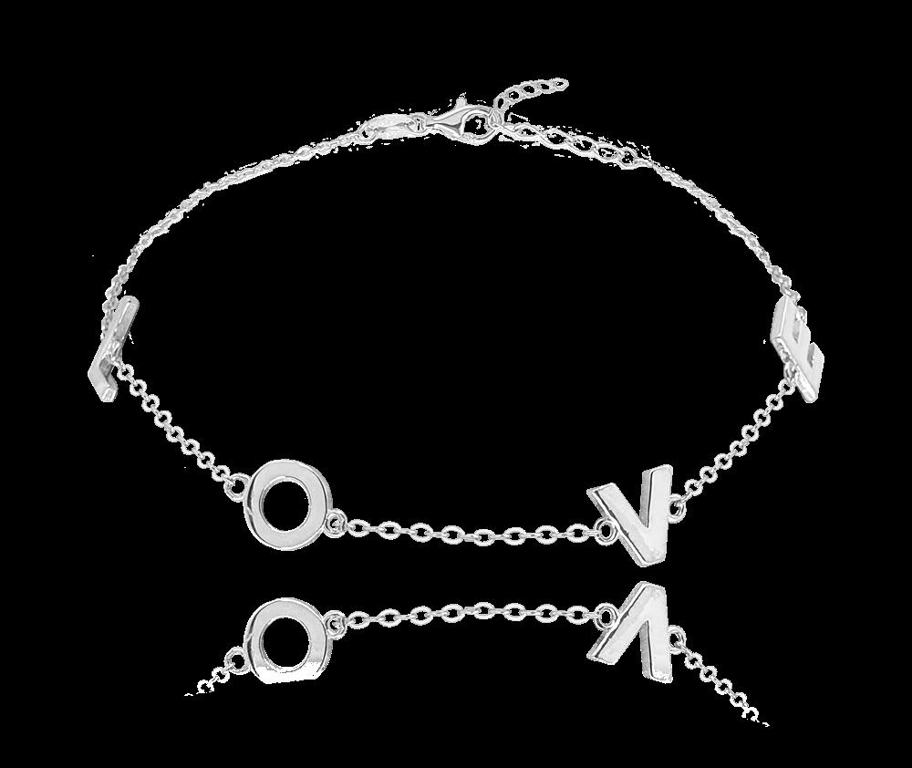 MINET Stříbrný náramek MINET LOVE JMAN0213SB16