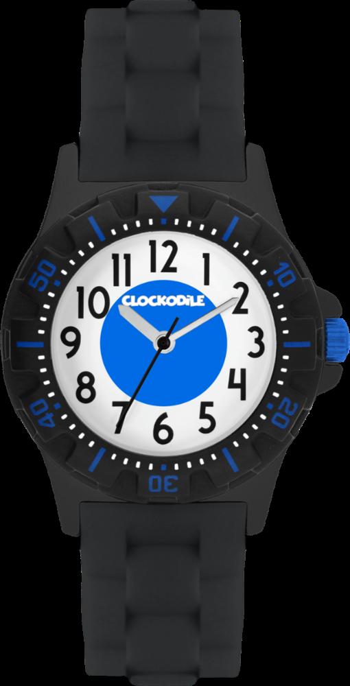 Svítící černé sportovní chlapecké hodinky CLOCKODILE SPORT 3.0