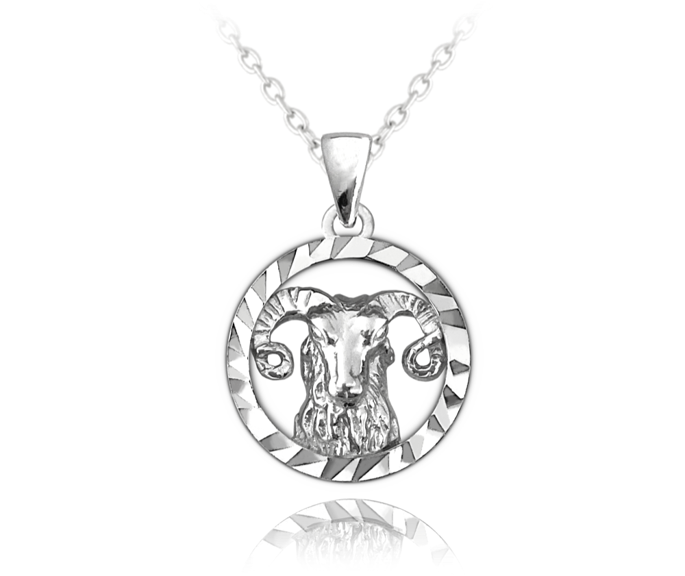 MINET Stříbrný náhrdelník MINET Zodiac znamení BERAN JMAS9404SN45