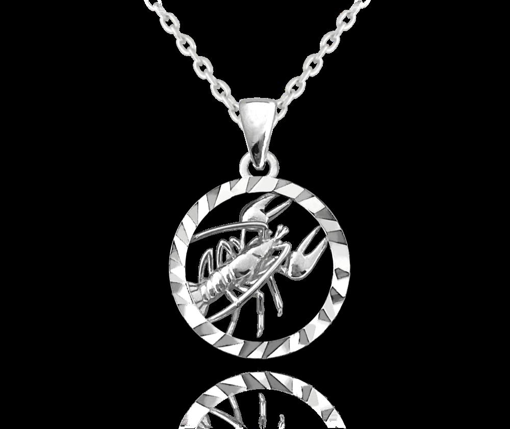 MINET Stříbrný náhrdelník MINET Zodiac znamení RAK JMAS9407SN45