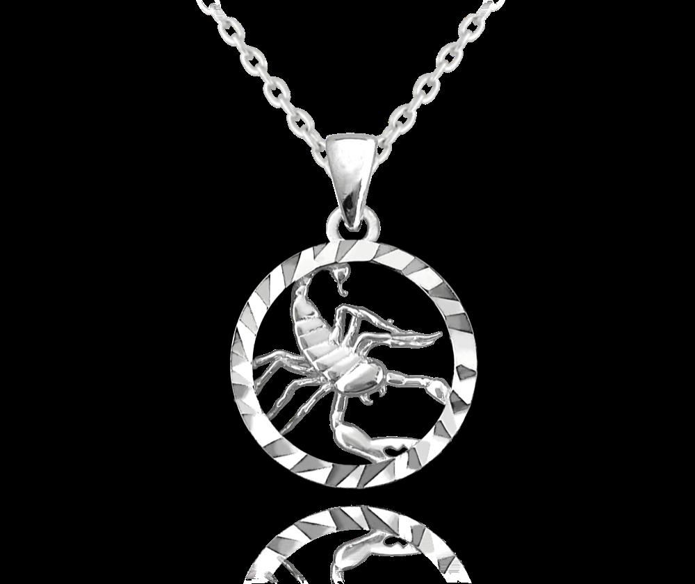 MINET Stříbrný náhrdelník MINET Zodiac znamení ŠTÍR JMAS9411SN45