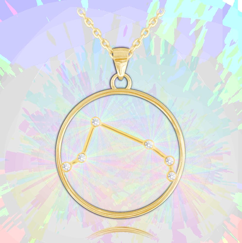 MINET Pozlacený náhrdelník MINET Stars BERAN Czech Crystal