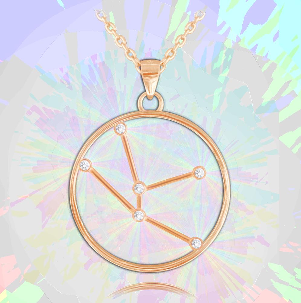 MINET Rose gold náhrdelník MINET Stars BÝK Czech Crystal