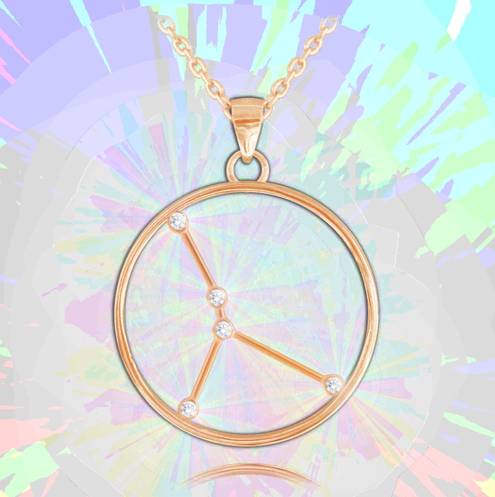 MINET Rose gold náhrdelník MINET Stars RAK Czech Crystal