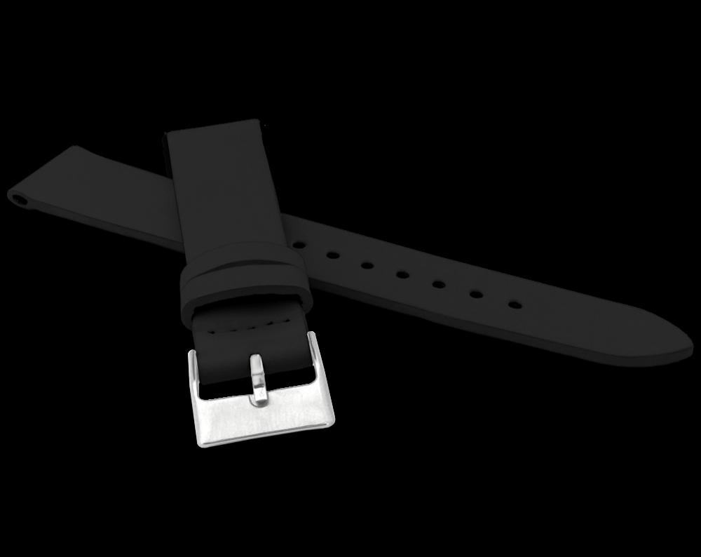 Černý řemínek MINET z luxusní kůže Top Grain - 18