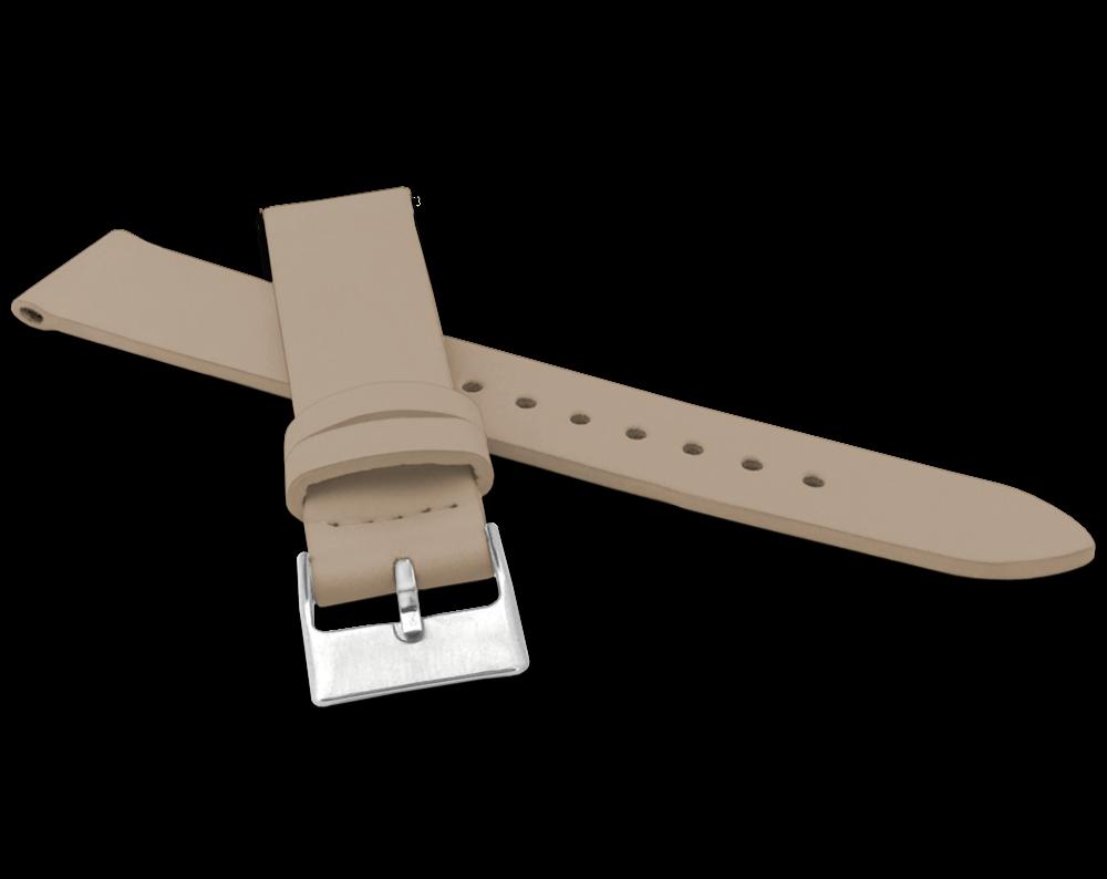 Béžový řemínek MINET z luxusní kůže Top Grain - 18
