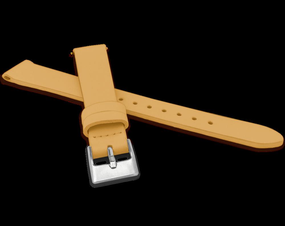 Žlutý řemínek MINET z luxusní kůže Top Grain - 16