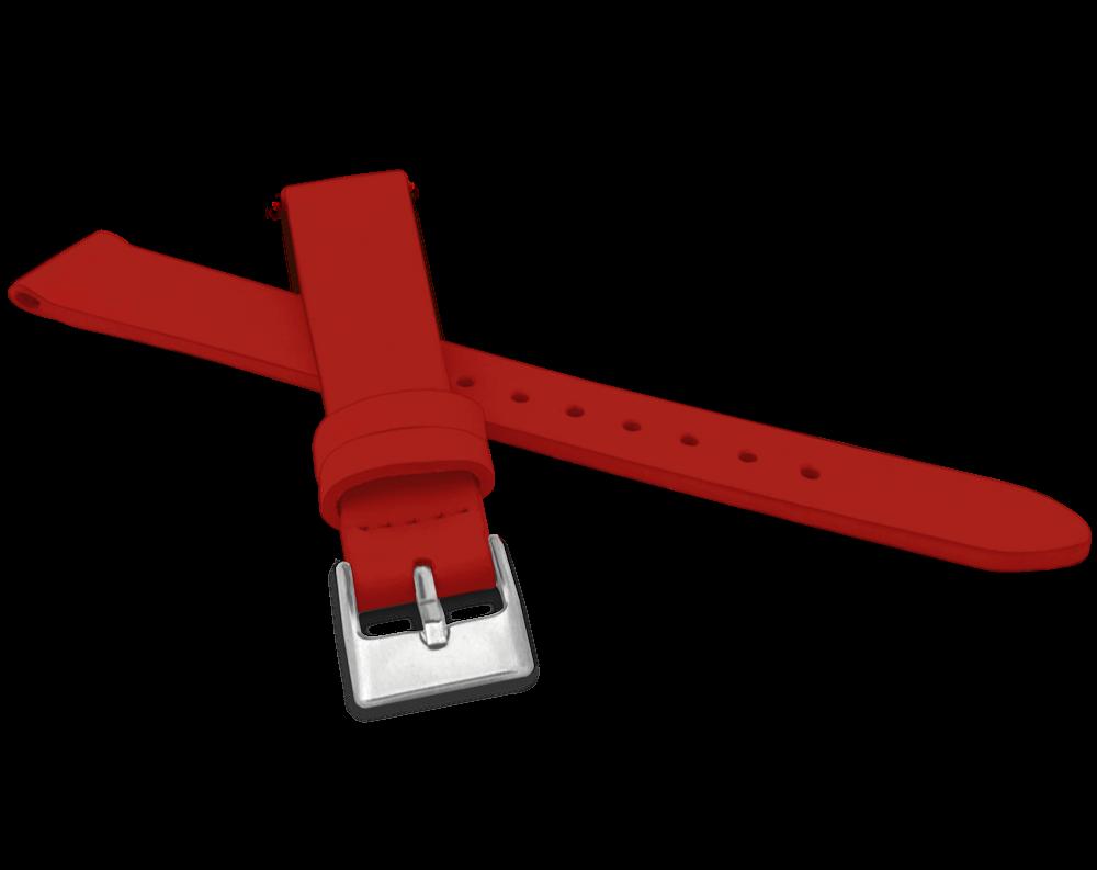 Červený řemínek MINET z luxusní kůže Top Grain - 14