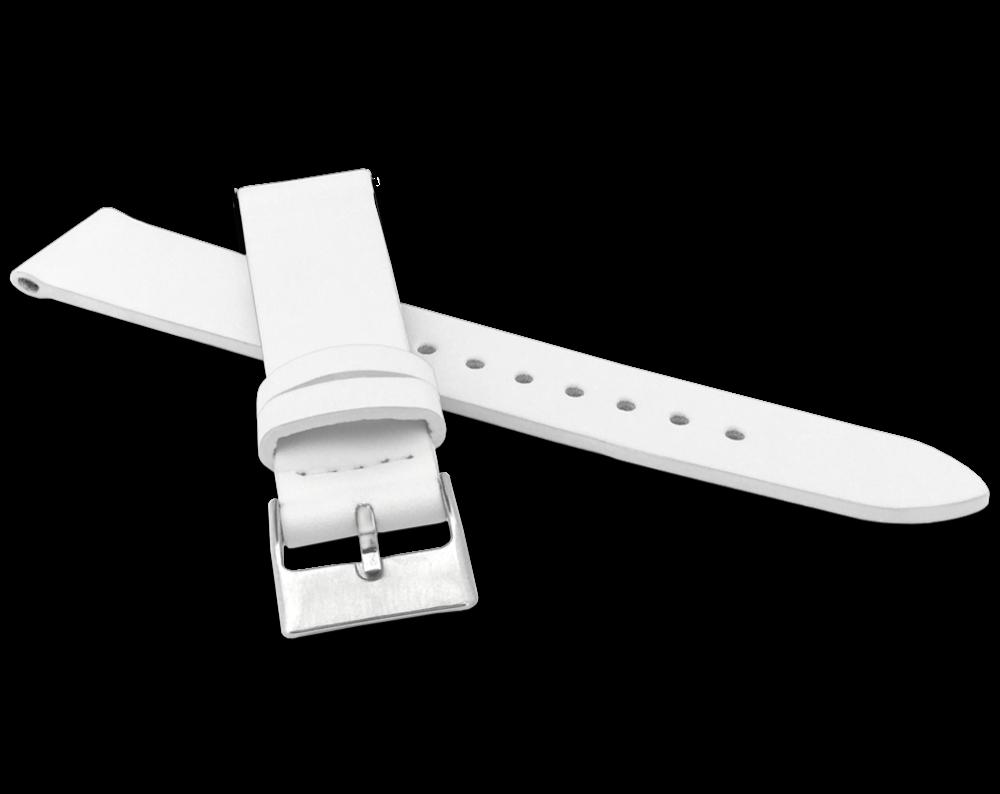 Bílý řemínek MINET z luxusní kůže Top Grain - 20