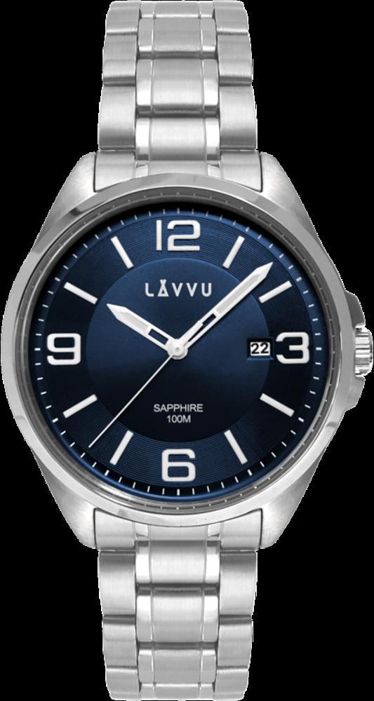 Pánské hodinky se safírovým sklem LAVVU HERNING Blue