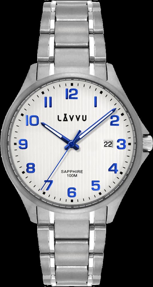 Titanové hodinky se safírovým sklem LAVVU TITANIUM LILLEHAMMER White