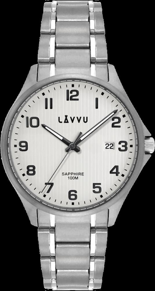 Titanové hodinky se safírovým sklem LAVVU TITANIUM LILLEHAMMER Silver
