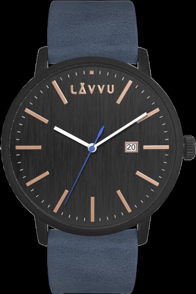 Modro-černé pánské hodinky LAVVU COPENHAGEN BLACK/BLUE